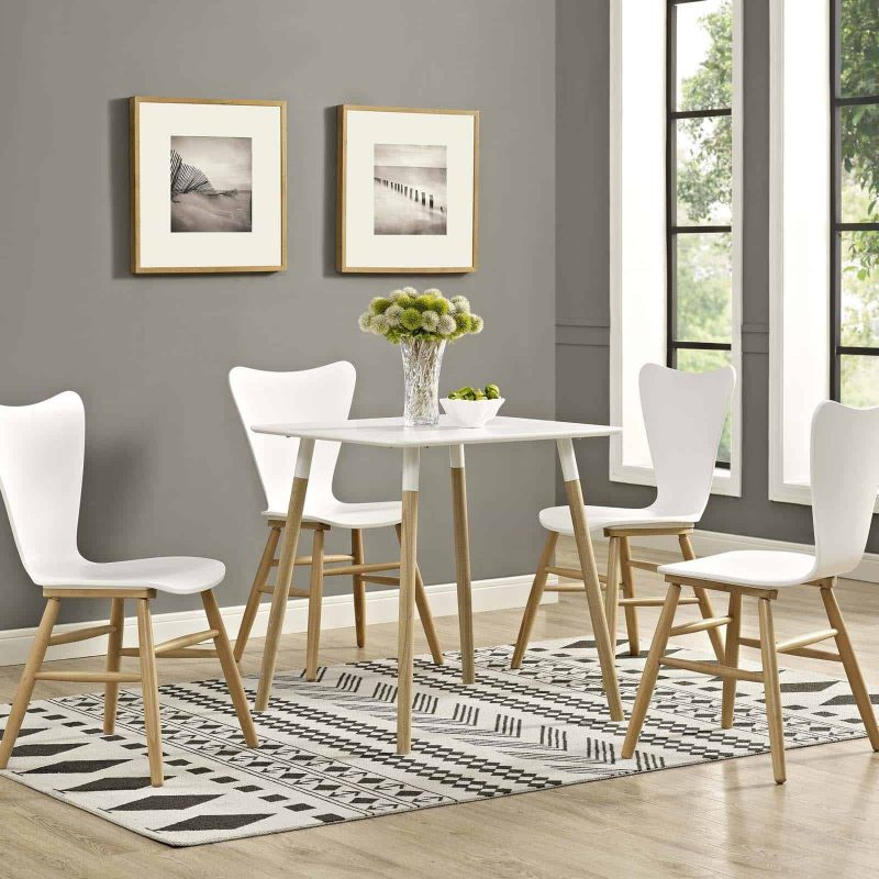"""Continuum 28"""" Square Dining Table in White"""