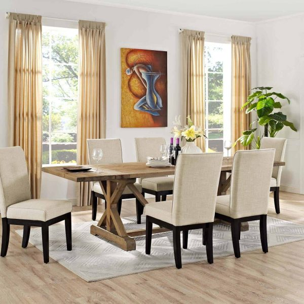 Den Extendable Wood Dining Table in Brown