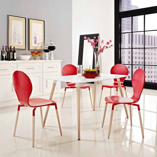 Field Rectangle Dining Table in White