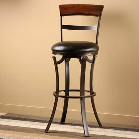 Kennedy Counter-Height Bar Stool, One Size , Black