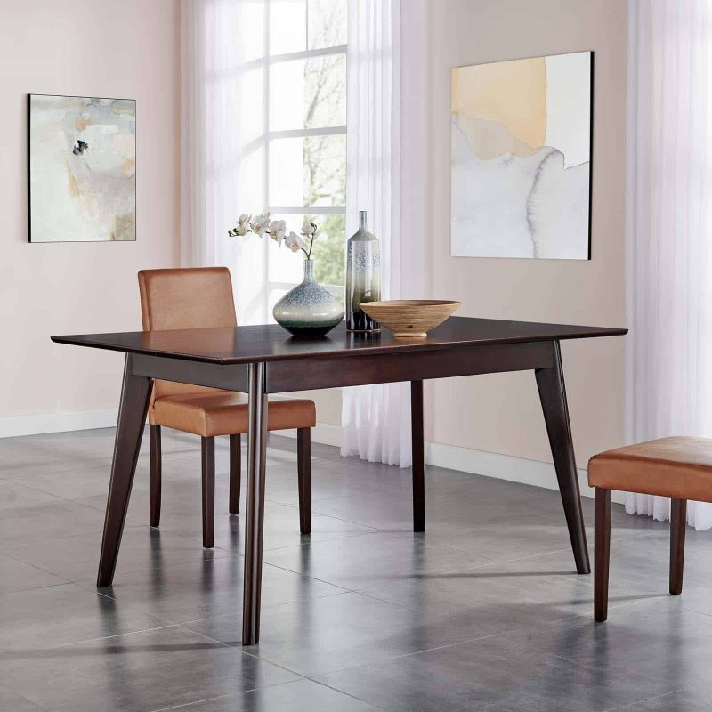 """Oracle 59"""" Rectangle Dining Table in Cappuccino"""