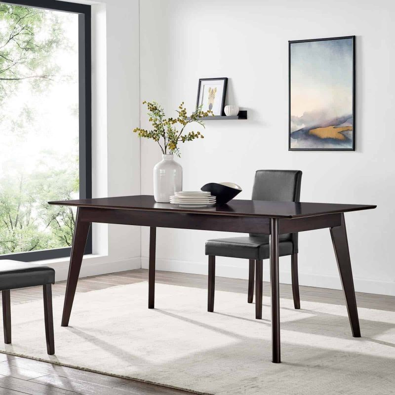 "Oracle 69"" Rectangle Dining Table in Cappuccino"