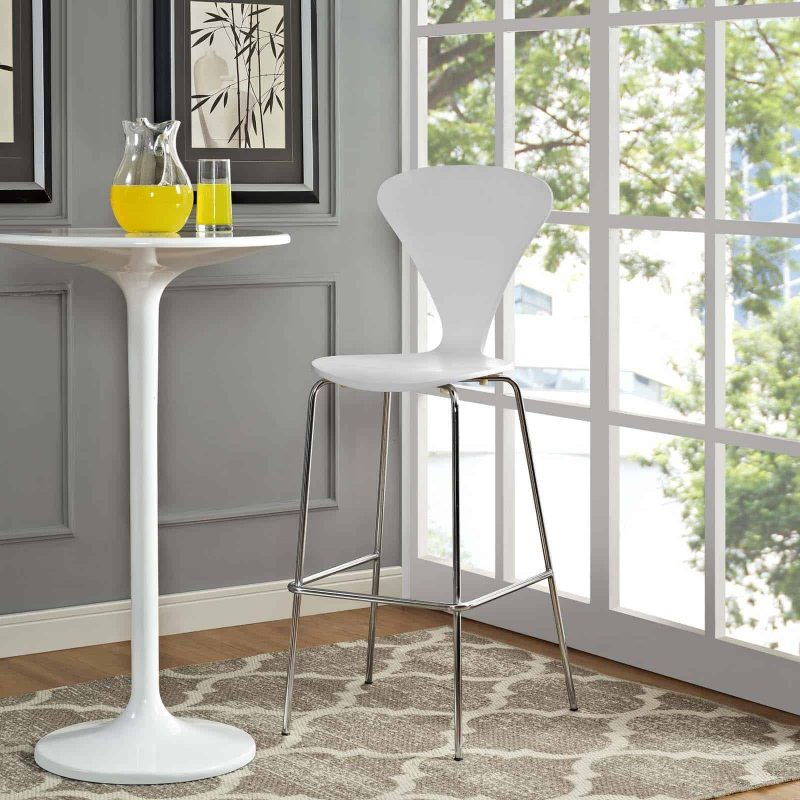Passage Dining Bar Stool in White