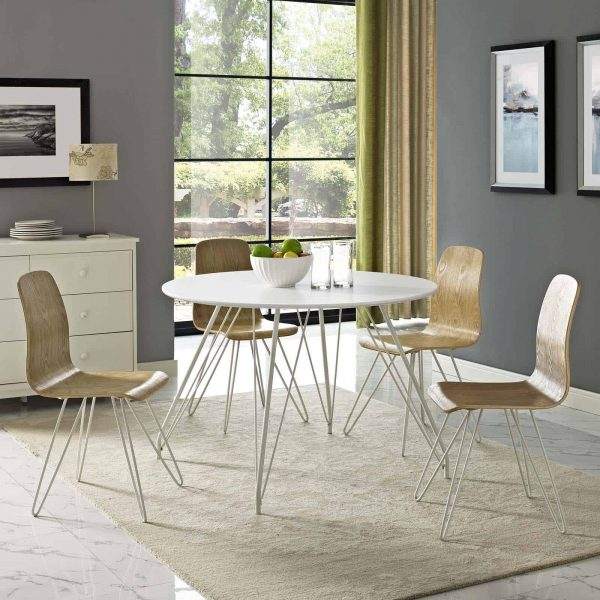 Satellite Circular Dining Table in White