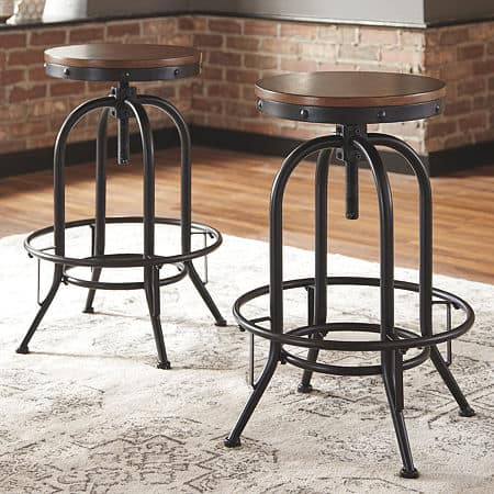 Signature Design by Ashley Valebeck Bar Stool-Set of 2, One Size , Brown