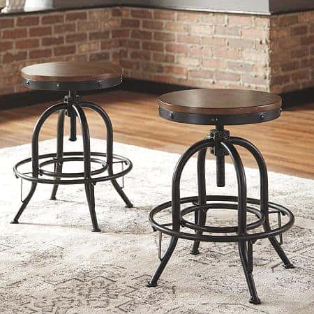Signature Design by Ashley Valebeck Counter Height Bar Stool-Set of 2, One Size , Brown