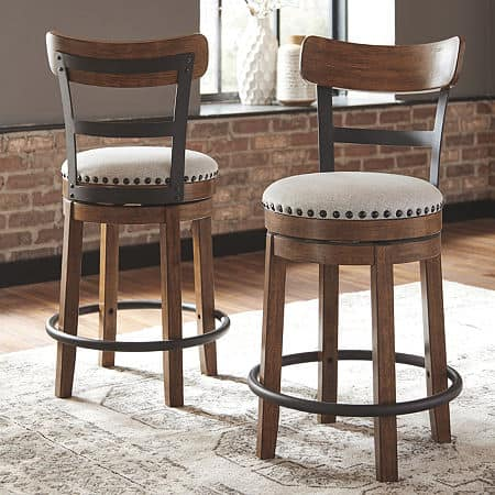 Signature Design by Ashley Valebeck Swivel Bar Stool, One Size , Brown