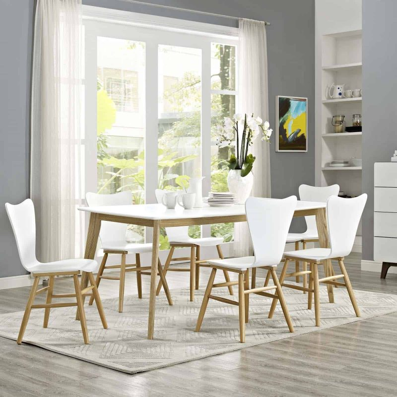 """Stratum 71"""" Dining Table in White"""