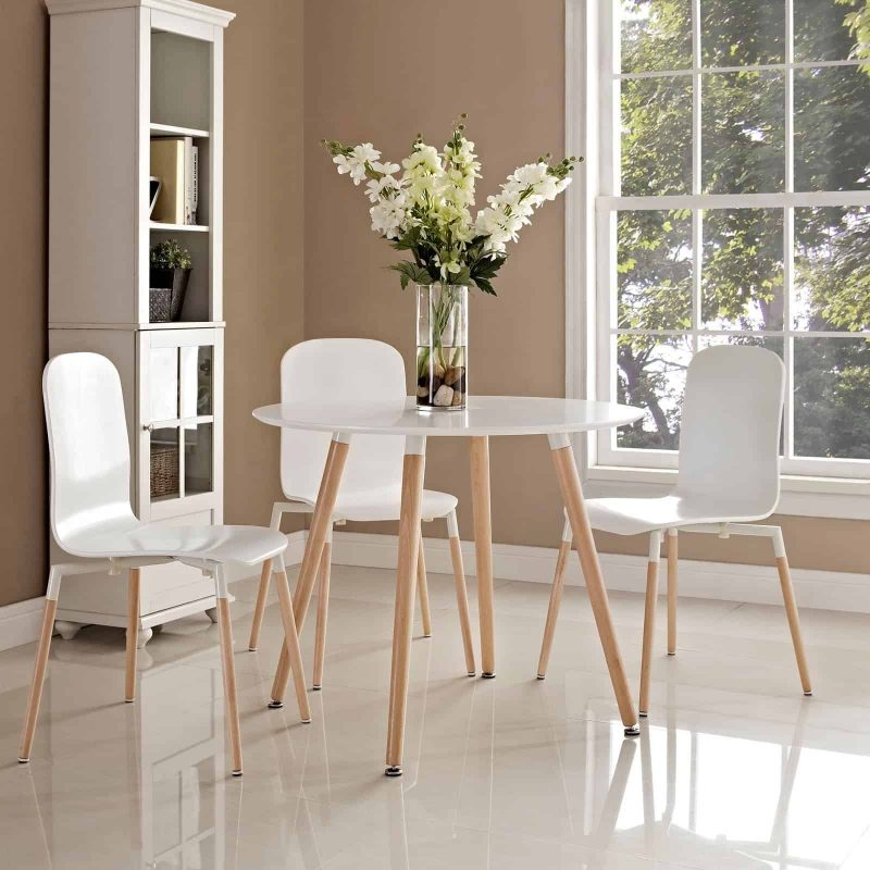 Track Round Dining Table in White