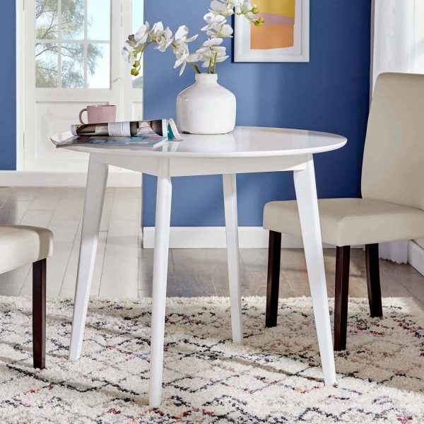 "Vision 35"" Round Dining Table in White"