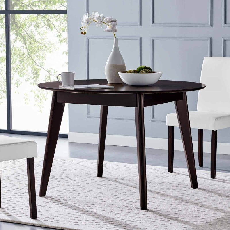 "Vision 45"" Round Dining Table in Cappuccino"