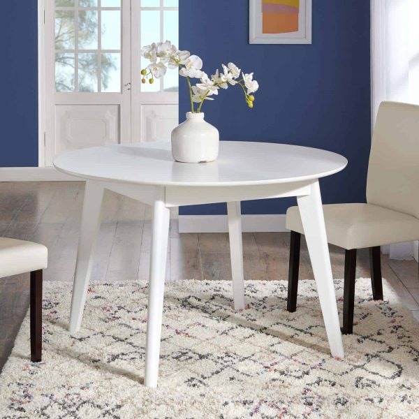 "Vision 45"" Round Dining Table in White"