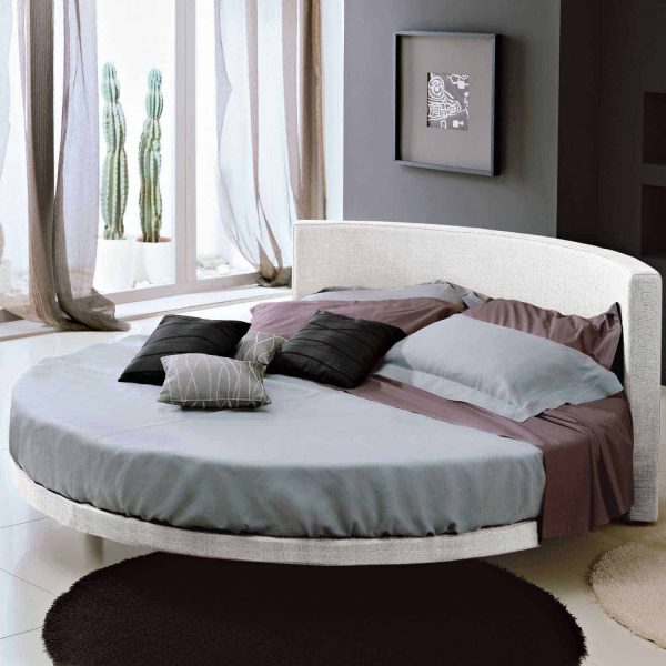 Round bed in bedroom furniture