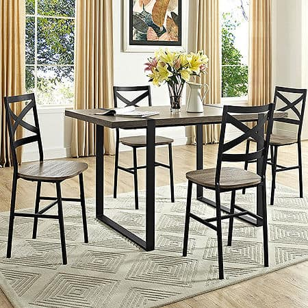 """60"""" Urban Blend Wood Dining Table, One Size , Gray"""