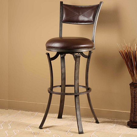 Drummond Bar-Height Bar Stool, One Size , Brown