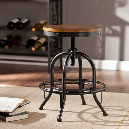 Industrial Bar Stool, One Size , Black