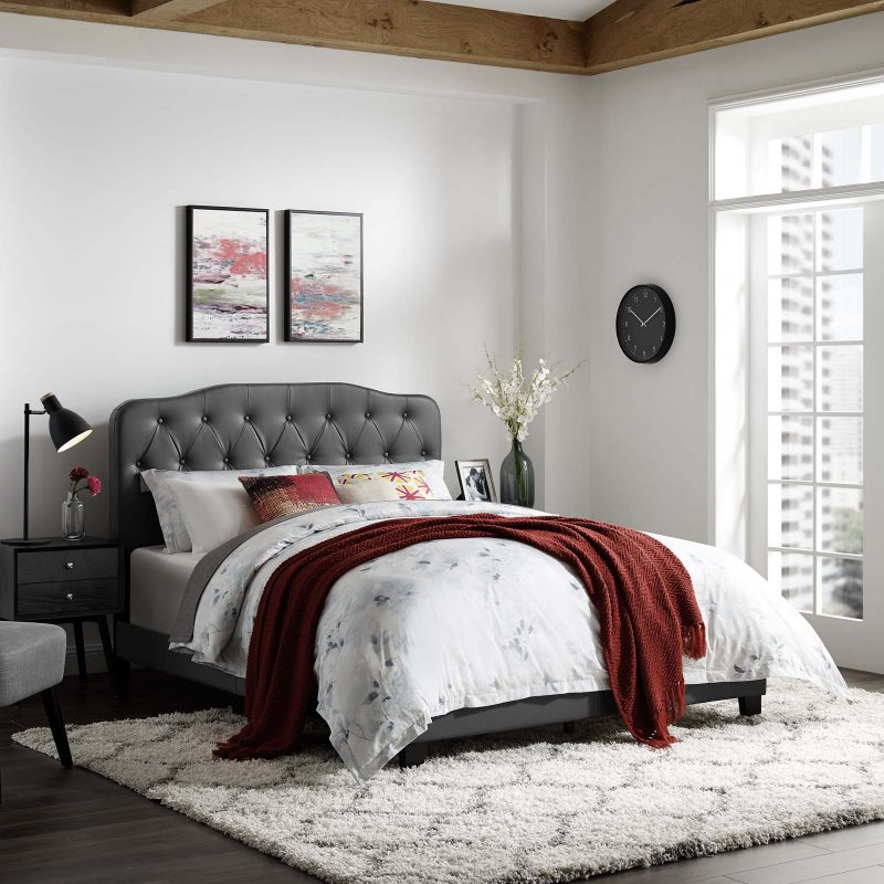 Amelia Faux Leather Bed