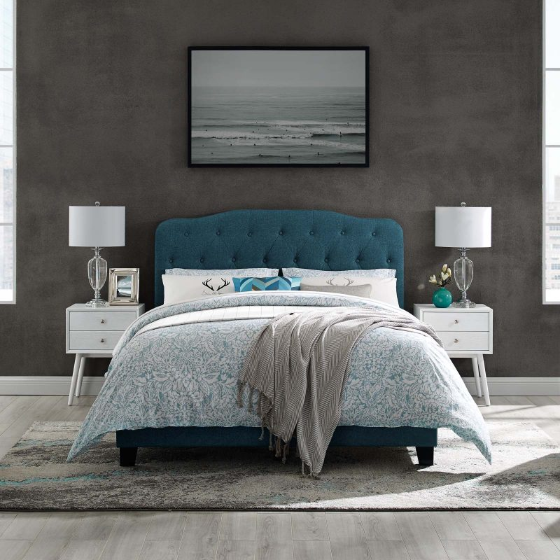 Amelia Upholstered Fabric Bed