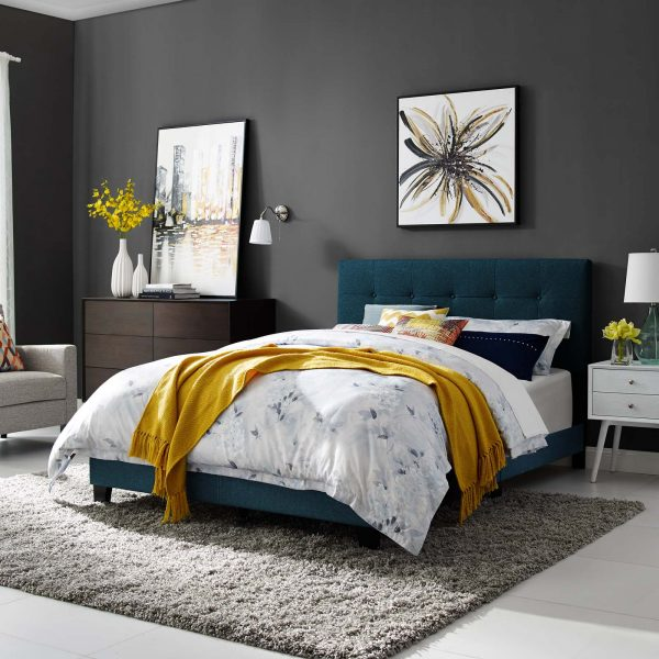 Amira Upholstered Fabric Bed