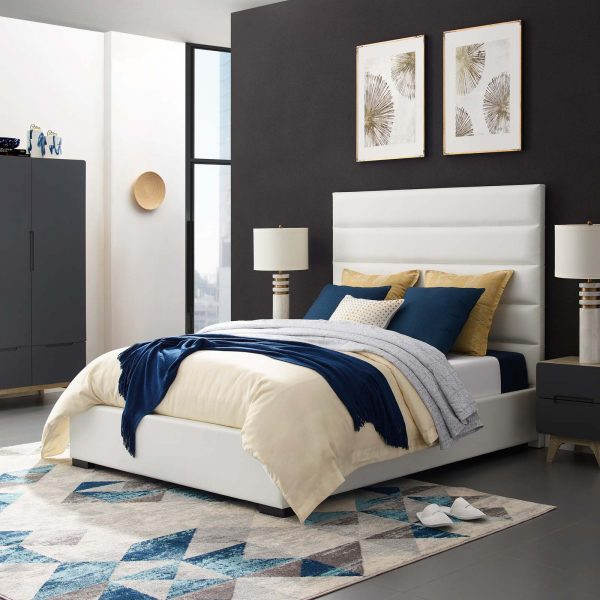 Genevieve Faux Leather Platform Bed