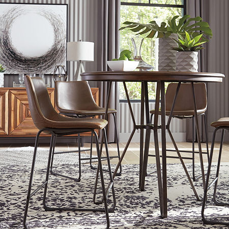 Signature Design by Ashley Collins 2-pc. Counter Height Upholstered Bar Stool, One Size , Multiple Colors