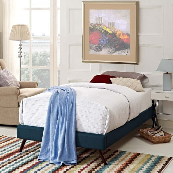 Loryn Fabric Bed Frame with Round Splayed Legs