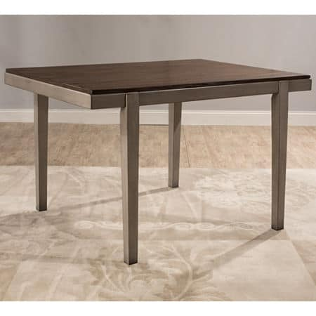 Hillsdale House Garden Park Square Wood-Top Dining Table, One Size , Gray